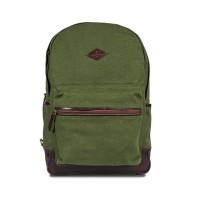 Backpack Ransel Kanvas Kulit Renee Eastmovin Olive