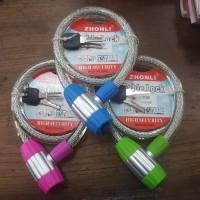 Kunci sepeda / pagar / ban cable lock tebal dan kunci komputer key