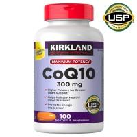 Kirkland Signature CoQ10 (300 mg.) isi 100 Softgels Supplemen Jantung