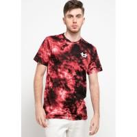 MTH46 thirdday tie dye maroon black logo dakir t-shirt unisex pria