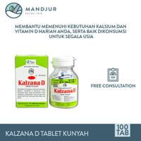Kalzana D Tablet Kunyah - Suplemen Vitamin D dan Penambah Kalsium