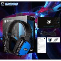 Headset Gaming Sades 722 D-POWER 3.5 mm audio SINGLE JACK with convert