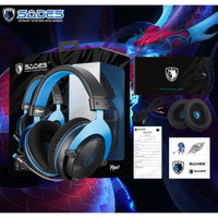 Headset Gaming Sades F-POWER 3,5 mm audio SINGLE JACK with Converter