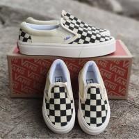 Sepatu anak vans slip On catur /Checkerboard kids szie 21-35