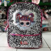 Tas Sekolah Ransel Anak SD karakter LOL Import Terbaru Hitam-Pink