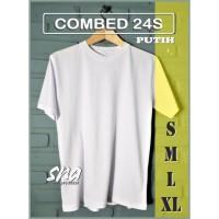 Kaos Putih Polos Combed 24s Cotton Premium - S