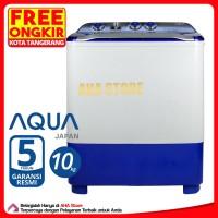 Aqua Mesin Cuci 2 Tabung 10 Kg QW-1080XT (FREE ONGKIR JABODETABEK)