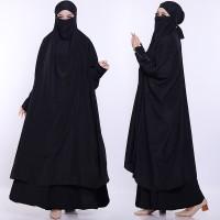 French khimar/khimar jumbo/ kerudung cadar/hijab cadar