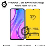 Tempered Glass 6D 9D Xiaomi Redmi 9 Full Cover Ambigo