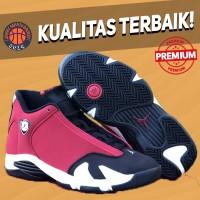 Sepatu Basket Sneakers Nike Air Jordan 14 Gym Red Black White Pria