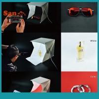 Sos Kotak Lampu LED Mini Portable Ukuran Kecil Dual Studio