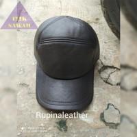 Topi pria ukuran besar bahan kulit XL XXL XXXL XJT089