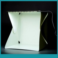 Sos Kotak Studio Foto Mini Portable Dengan Lampu Led Untuk
