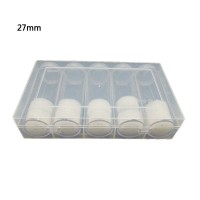 LIVI Clear Storage Box Collection Case Display Protector with 5 Pcs