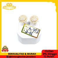 Anting emas kuning asli 700 perhiasan emas ORIGINAL fashion AMK265