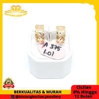 Anting emas kuning asli 375 perhiasan emas ORIGINAL fashion AMK101