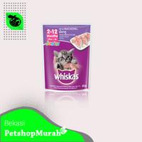 Makanan Kucing Basah Whiskas Junior 85gr Sachet Wetfood Pouch 85 Gram - Mackerel