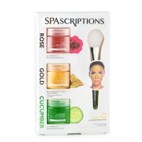 SPAscriptions 2481 Rose Gold Cucumber Gel Mask 3pk @1.7oz + Applicator