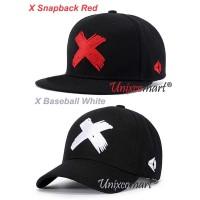 X Logo Topi Baseball Or Snapback Hat Cap Casual Sport Distro Dewasa