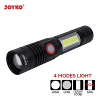 SENTER LED FLASH LIGHT LED Isi Ulang RECHARGABLE Joyko FL-87