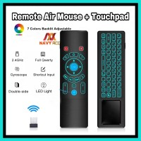 Remote Tv Box Air Mouse Touch Pad Wireless 7 Color Backlit T6