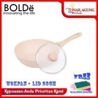BOLDe SUPER PAN WOK 28 CM COATING GRANITE + GLASS LID