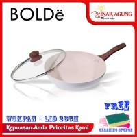 BOLDe SUPER PAN WOK 26 CM COATING GRANITE + GLASS LID