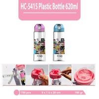 BOTOL MINUM-MAXHOME BOTTLE HC-5415 PINK BLUE 620ML - Merah Muda