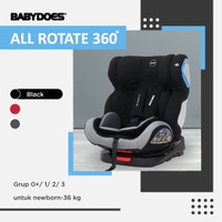 DUDUKAN MOBIL BAYI CAR SEAT BABY DOES ALL ROTATE 360 ISOFIX PAKET