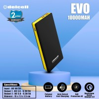Delcell 10000mAh Powerbank EVO QuickCharge 3.0A Real Capacity Polymer