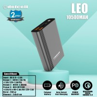 New Arrival Delcell LEO Powerbank 10500mAh QC 3.0 PD Free Kabel PVC