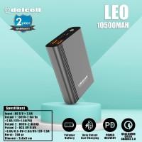 Termurah Delcell Power Bank Leo 10500mAh QC 3.0 and PD Real Capacity