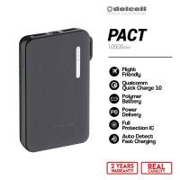 Delcell 10500mAh Powerbank PACT Real Capacity Support QC dan PD