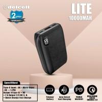 Delcell LITE Powerbank 10000mAh Support QC 3.0 Dan PD 2 tahun garansi