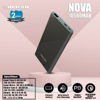 Delcell 10500mAh Powerbank NOVA Support Quick Charge 3.0A RealCapacity