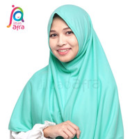 Jilbab Afra Arfa Syifa Hijab Instant Kerudung Non Pet Hijau Tosca Muda