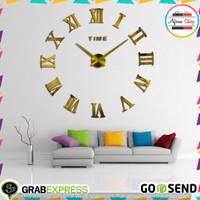 Jam Dinding Raksasa DIY 80-130cm Diameter - WLCS10070 - Golden