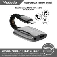 MCDODO CA-6340 Adapter Splitter Iphone 2 in 1 Lightning & 3.5MM Aux