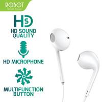Robot Headset RE10 Wired Earphone High Sound Quality Garansi Resmi