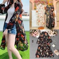 Dress Maxi Wanita Import Dress Women Premium Kemeja Boho Outer Floral