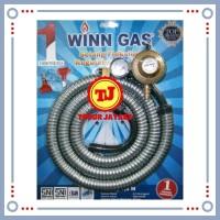 Selang gas winn gas paket 1.8 meter selang kompor gas + regulator