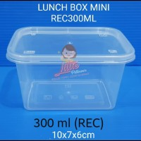 Lunch Box Mini Rec 300ml - Thinwall Kotak Makan Mini