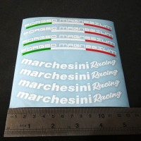 Cutting Sticker Velg motor Marchesini Racing Forged Magnesium PUTIH