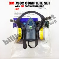 ORIGINAL 3M 7502 Mask Respirator + 3M 6003 Cartridge Complete Set