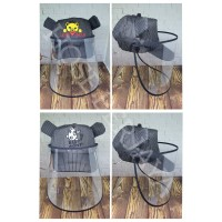 Topi Baseball Anti Corona Bayi / Face Shield Baby - Putih