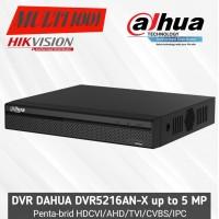 DVR 16 CHANNEL DAHUA UP TO 5MP XVR5216AN-X PENTABRID ORIGINAL BERGARSI