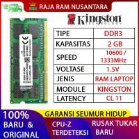 RAM LAPTOP KINGSTON DDR3 2GB 10600 / 1333 MHz ORI RAM SODIMM 1.5v 2GB