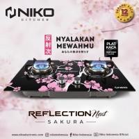 Kompor Tanam NIKO Sakura Body Tempered Glass Reflection (GRAB-GOJEK)