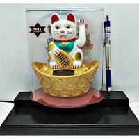 Kucing Hoki/Solar rejeki Maneki Neko/Hiasan patung kucing tinggi 13cm