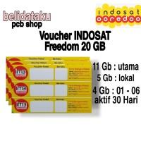 Voucher Paket Data INDOSAT FREEDOM 20 GB